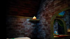 No.095 アスカンタ城の金のスライムのズームアウト画像